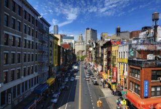 Chinatown in New York City.