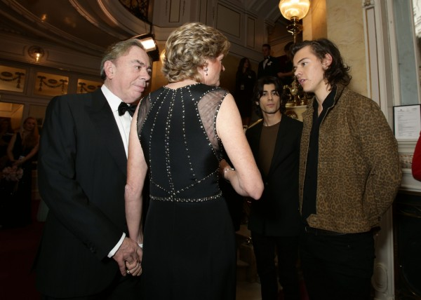 Lord and Lady Lloyd Webber and One Direction