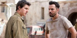Tom Cruise and Jake Johnson in The Mummy
