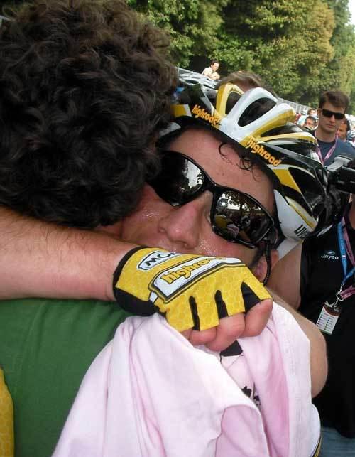 Mark Cavendish and Max Sciandri Giro 2009 stage 13