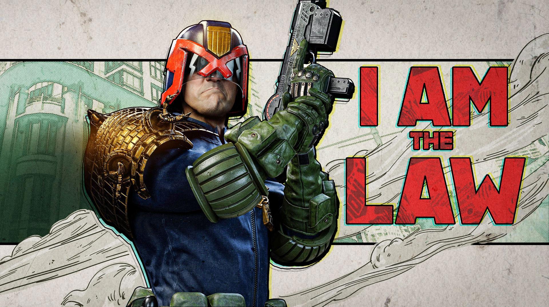 Judge Dredd promotional image in Warzone