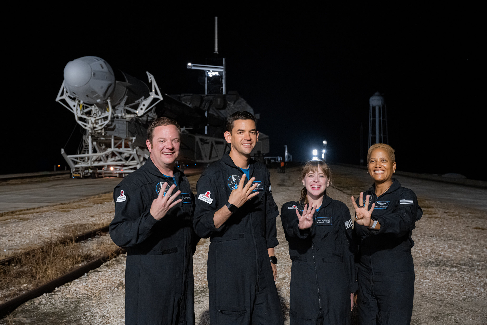 The crew of Inspiration4 readies for launch.