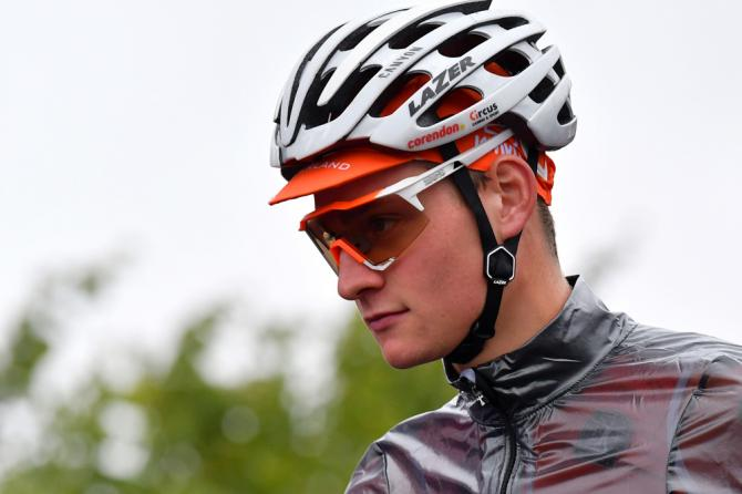 Mathieu van der Poel was ready for a day in the rain