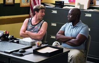 Andy Samberg's new frosted-tips hairdo is just one of the treats in store as series four of the reliably rib-tickling cop comedy begins with a double bill.