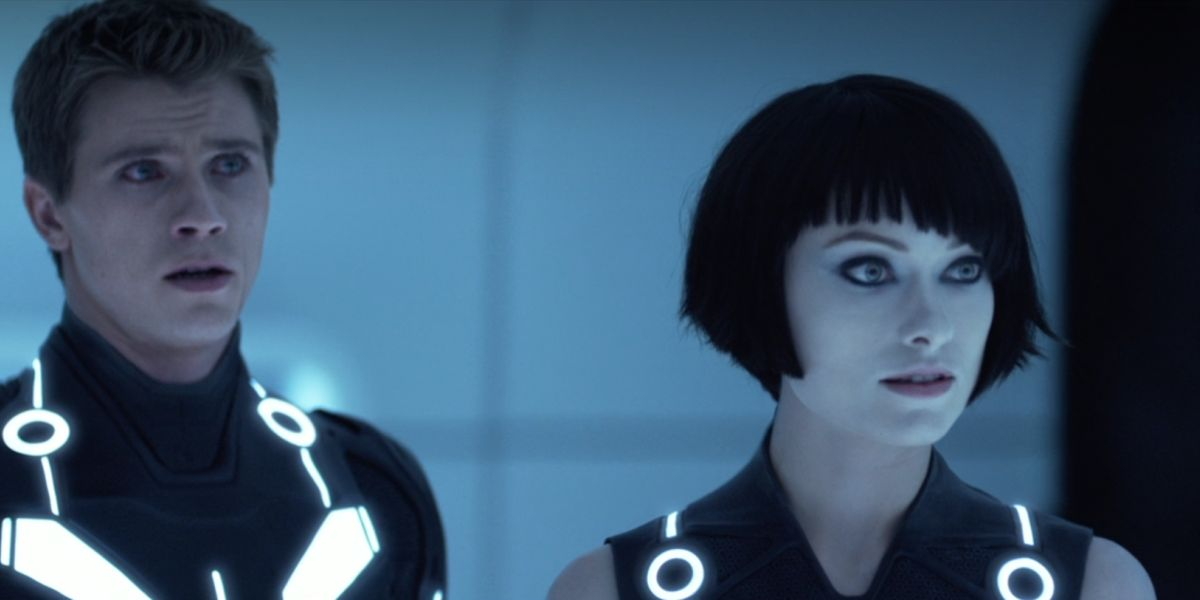 Garret Hedlund and Olivia Wilde in Tron: Legacy