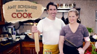 """Amy Schumer and her husband, Chris, in """"Amy Schumer Learns to Cook."""""""