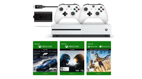 Two must see amazon prime xbox one s us deals two controllers a amazon prime day has offered up not one but two amazing xbox one bundles including an xbox one s two controllers a play charge kit and a two choices of sciox Choice Image