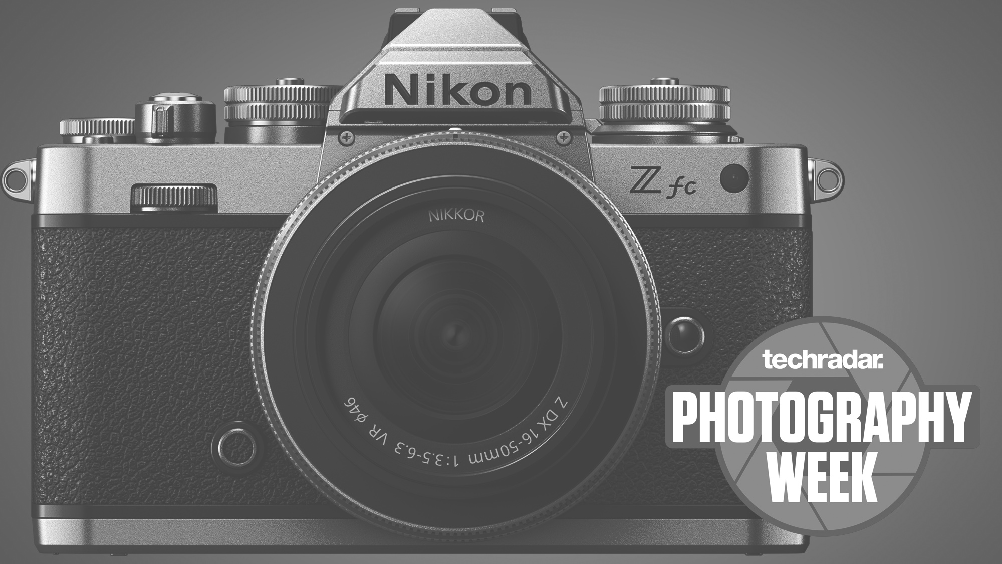 The front of the Nikon Zfc camera