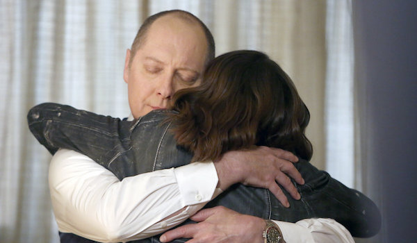 liz and her father red hugging on the blacklist