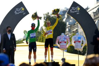 Tour de France 2021 108th Edition 21th stage Chatou Paris Champs Elysees 1084 km 18072021 Tadej Pogacar SLO UAE Team Emirates Mark Cavendish GBR Deceuninck QuickStep photo Dario BelingheriBettiniPhoto2021