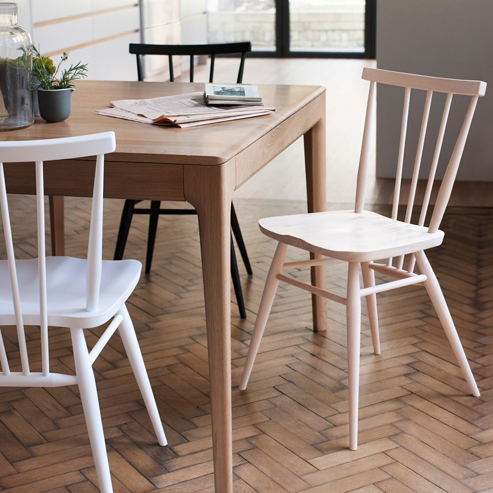 Opt for Windsor chairs for a timeless dining space