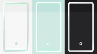 Färgerna på Pixel 3.