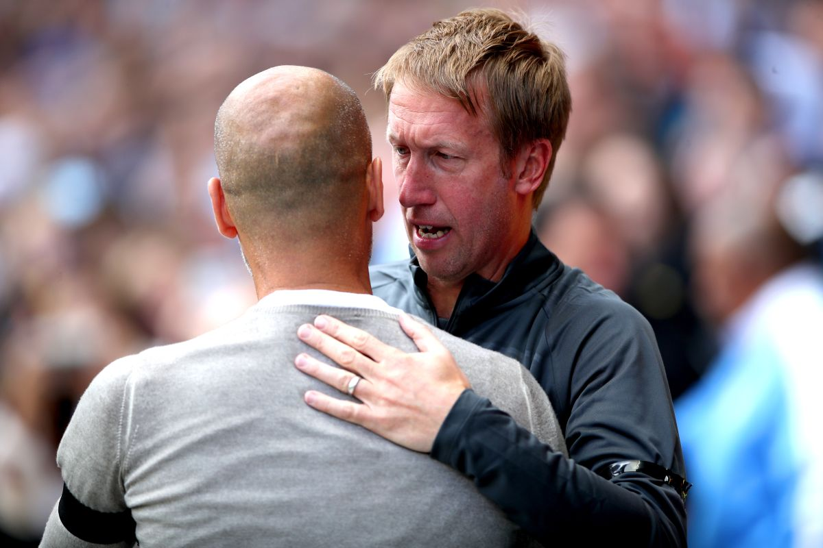 Graham Potter hoping for 'a cuddle' when Pep Guardiola returns to Brighton