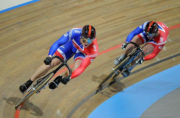Sir Chris Hoy Jason Kenny men's sprint 2011 world track championships Apeldoorn[5].jpg