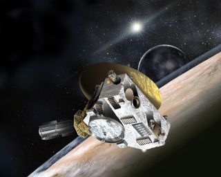 Artist's Concept: New Horizons Spacecraft at Pluto