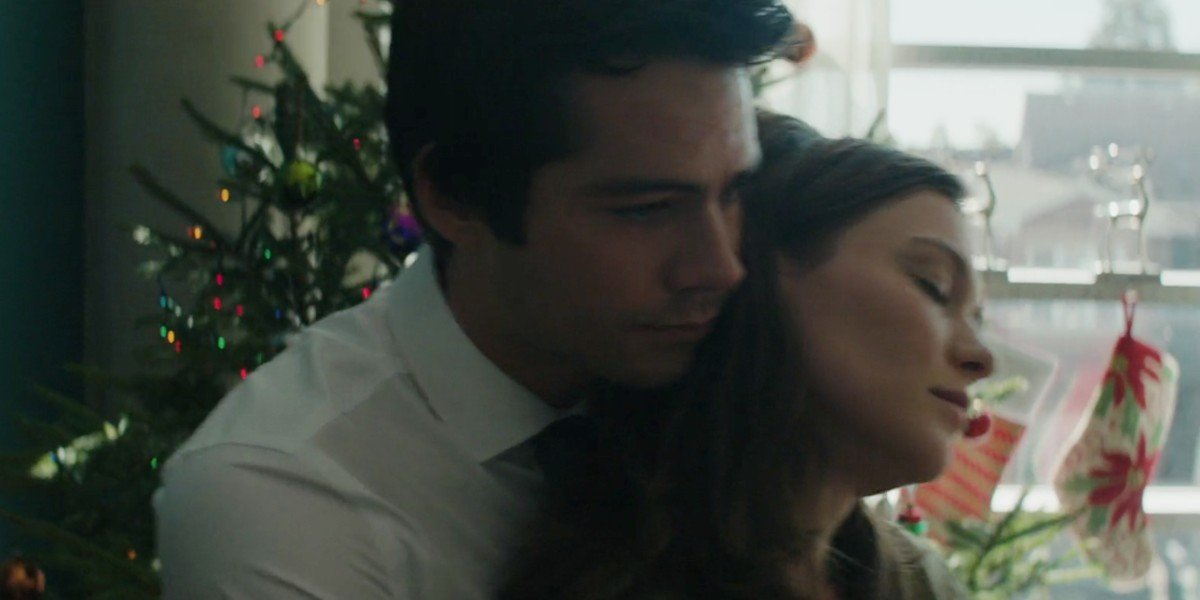 Dylan O'Brien and Hannah Gross in Flashback