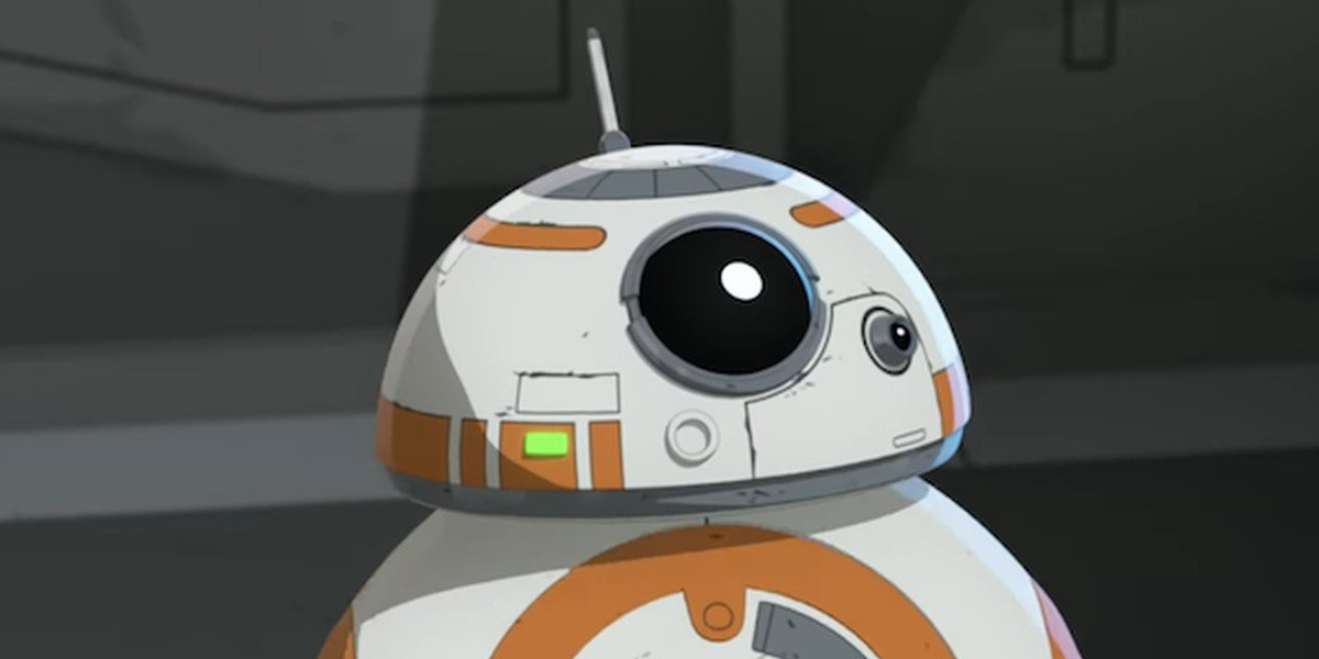 An animated BB8 in Star Wars Resistance