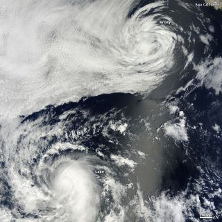 Tropical Depression Kristy and Hurricane Lane