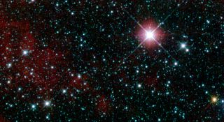 An infrared view of the constellation Carina taken by the WISE telescope.