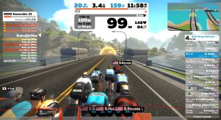 Racing on Zwift