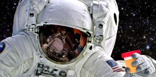 Astronaut recycling human waste