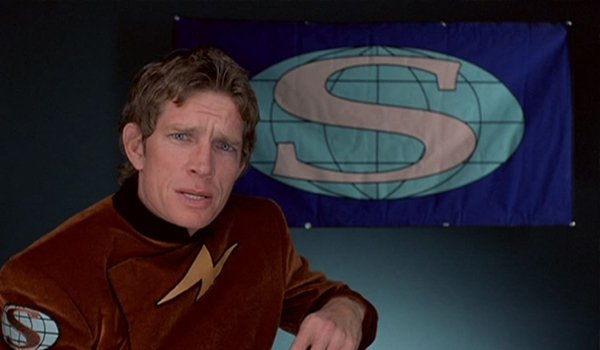 Thomas Haden Church gives an interview as The Strobe in The Specials