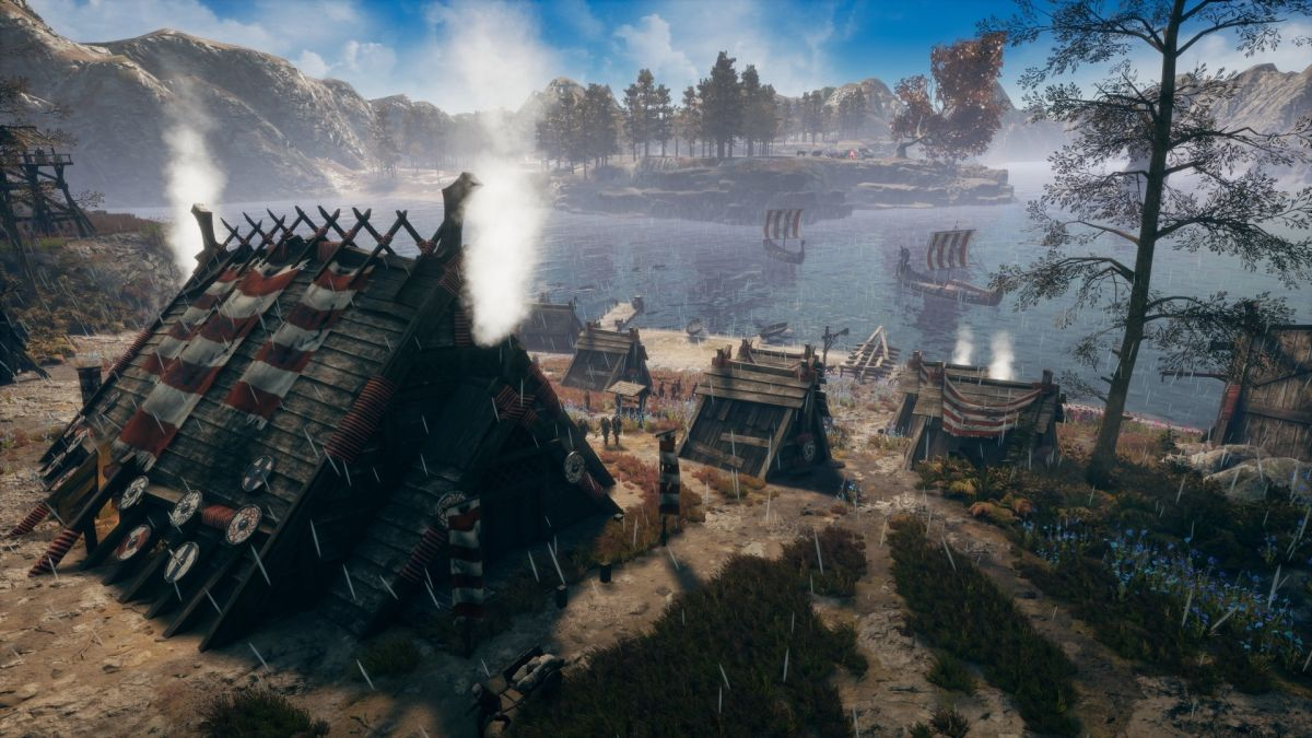 This Viking city builder throws in RTS combat and raids