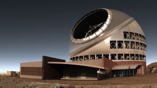 An artist's depiction of the Thirty Meter Telescope.