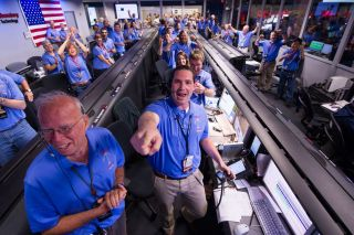 Mars Science Laboratory (MSL) Team Celebrates