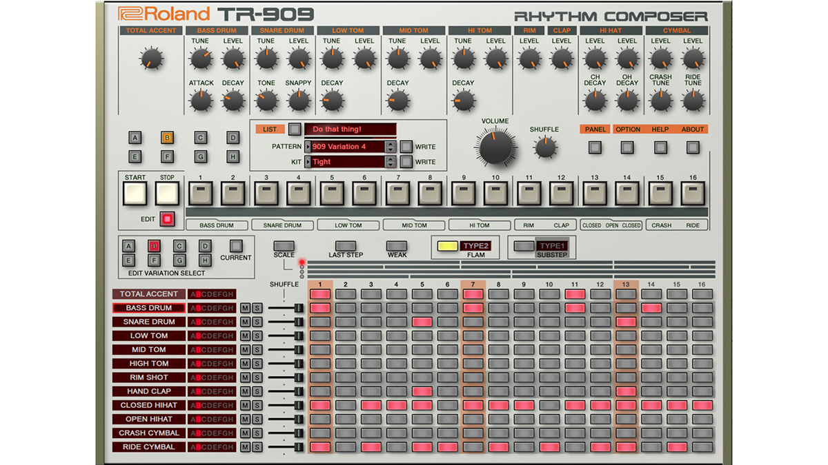 Roland's TR-909 plugin is now available in the Cloud