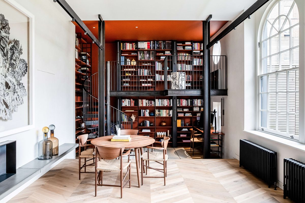 See how architects Michaelis Boyd have transformed this disused mews house into a colorful creative refuge for work and play
