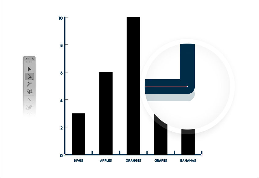 Illustrator tutorials: editable bar chart