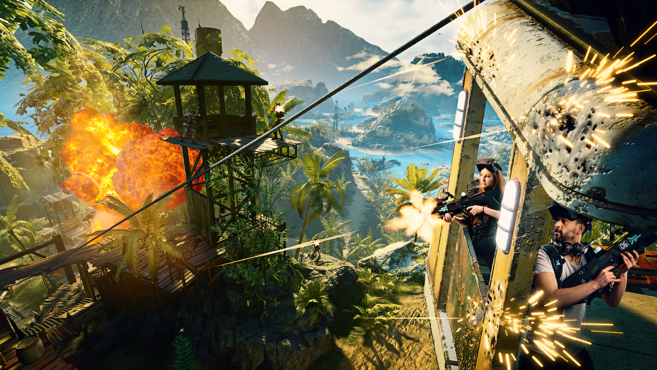 Far Cry VR with a team of players in action