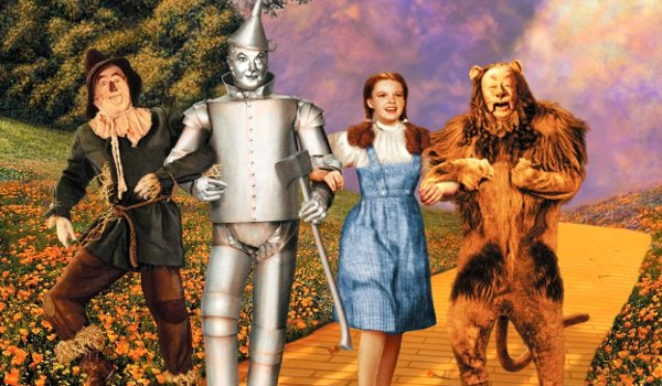 The Wizard of Oz Scarecrow Tin Man Dorothy and The Cowardly Lion on the Yellow Brick Road