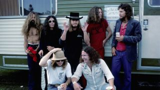 Lynyrd Skynyrd backstage in October 1976