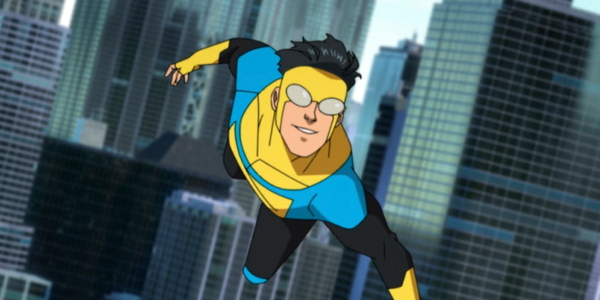 mark grayson flying in costume in amazon's invincible