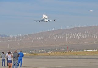 Endeavour's last flight was watched intently by a new generation of space wizards at the Mojave Air and Space Port on Sept. 21, 2012.