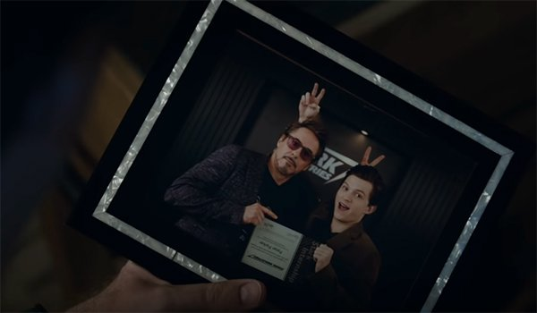 Tony's picture of himself with Peter Parker