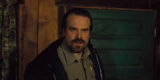 David Harbour as Hopper in Season 2