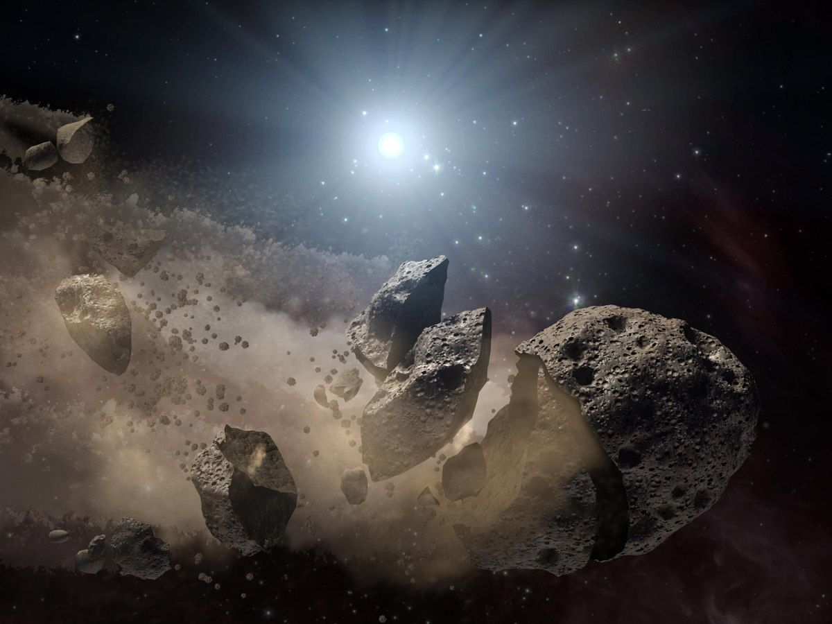Tiny Star Grinds Alien Asteroid into Giant Cloud of Debris