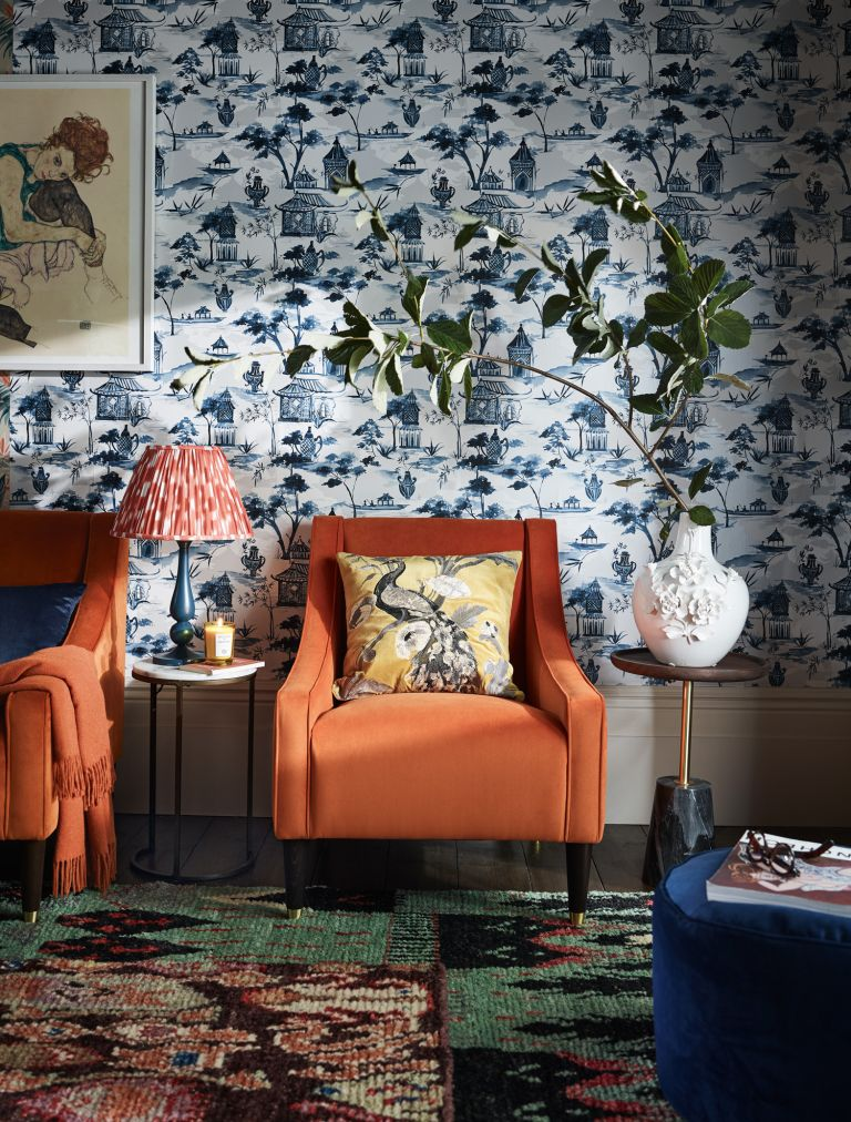 Living room decorated with Hand made in the UK at John Lewis