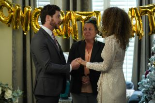 Chantelle Atkins is forced into a vow renewal in EastEnders
