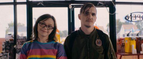 Kyle Gallner and Emily Skeggs in 'Dinner In America.'