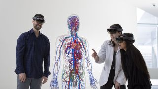 Developed by Case Western Reserve University, HoloAnatomy software works in combination with Microsoft HoloLens AR headsets to provide first- and second-year medical students with 3D perspectives of the human body.