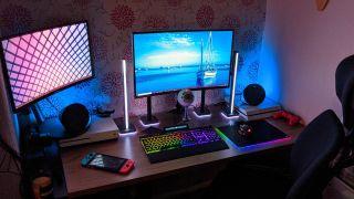 RGB Gaming desktop setup