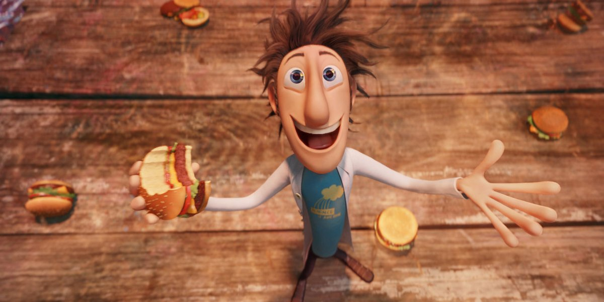 Flint Lookwood (Bill Hader) in Cloudy with a Chance of Meatballs