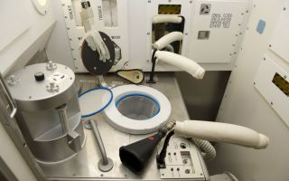 space toilet, iss toilet
