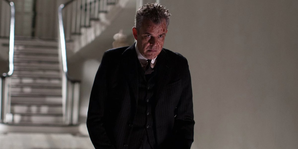 Danny Huston as the Axeman on American Horror Story