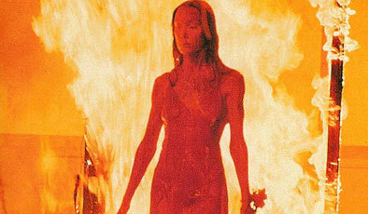 Sissy Spacek Carrie on fire 1976