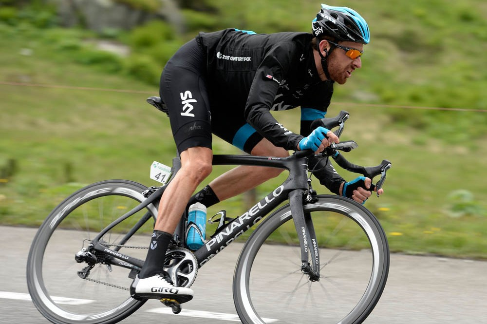 Bradley Wiggins on stage two of the 2014 Tour de Suisse